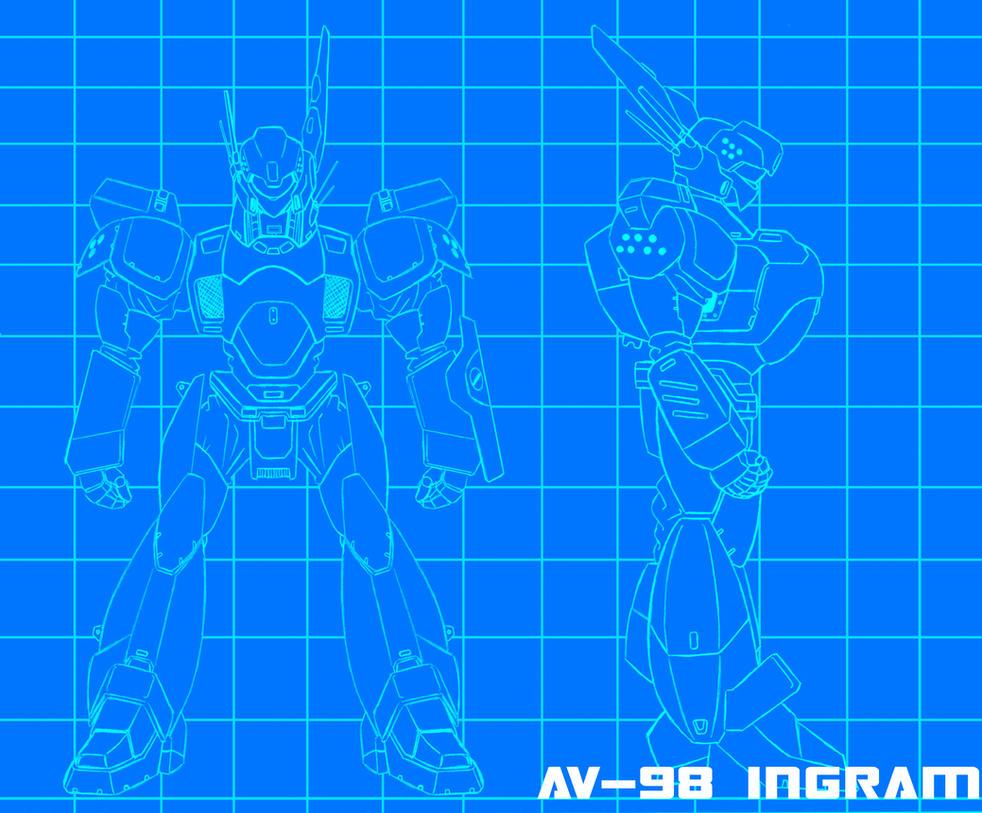 Patlabor:AV-98 bluebrints by zeiram0034