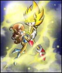 SonicXSally: Golden dance by zeiram0034