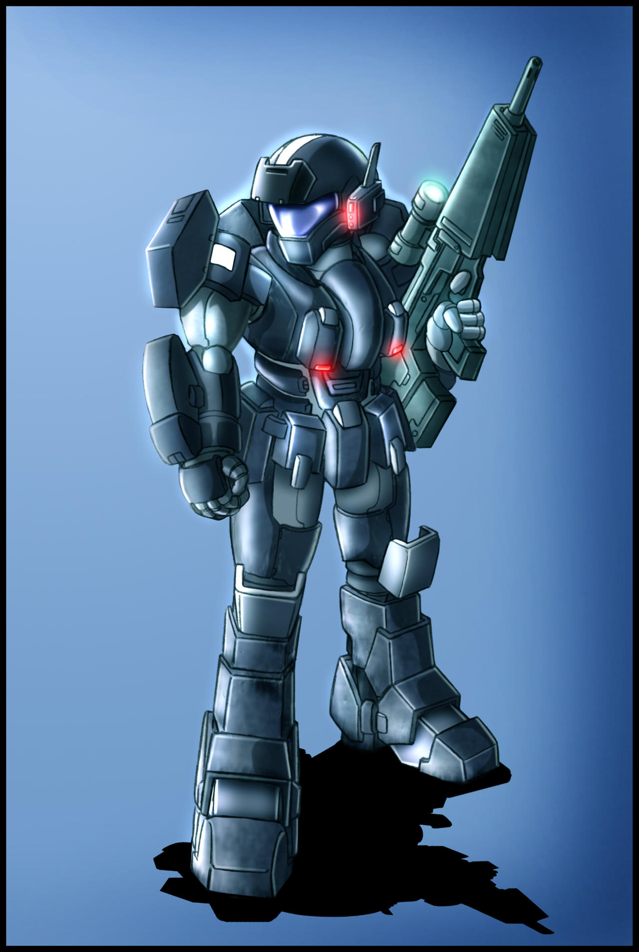 Armored trooper design by zeiram0034