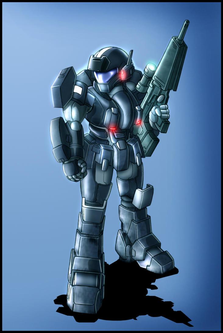 Armored trooper design by zeiram0034