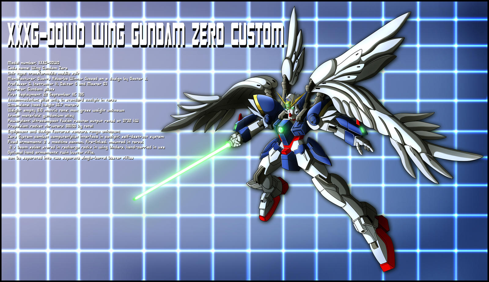 Wing Gundam Zero Custom Profile by zeiram0034