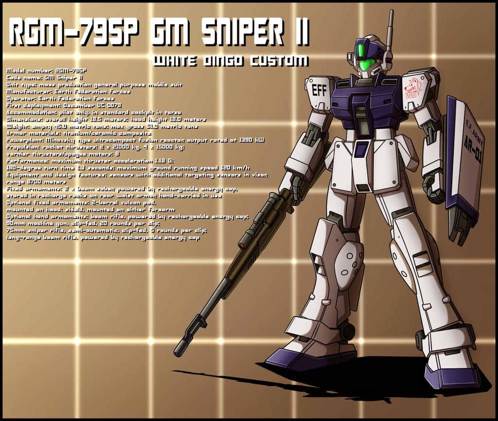 RGM-79SP GM Sniper II white dingo custom profile by zeiram0034