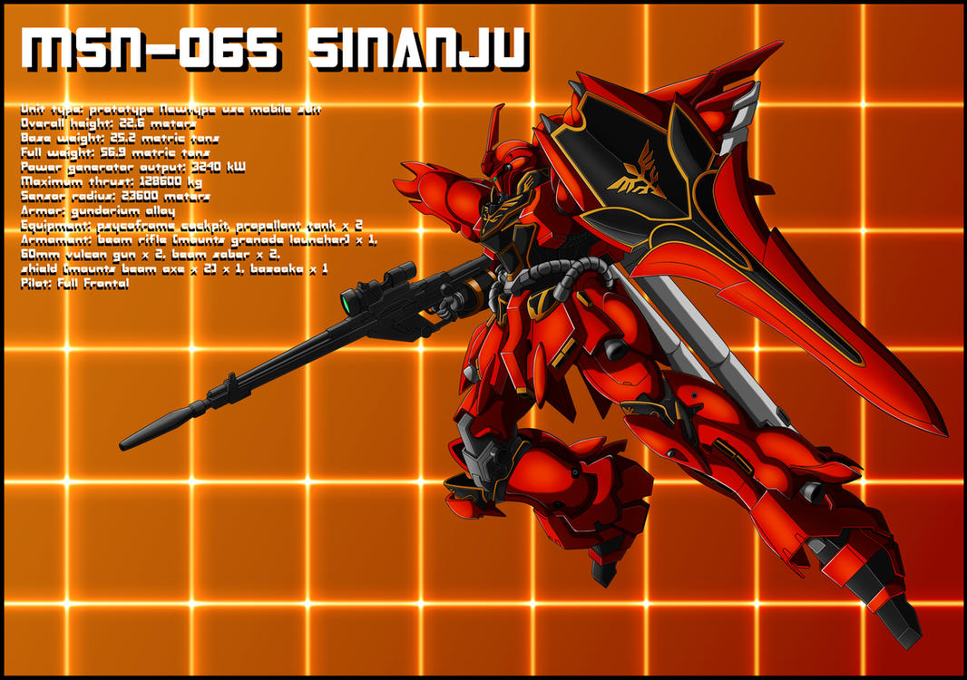 MSN-06S Sinanju Profile by zeiram0034