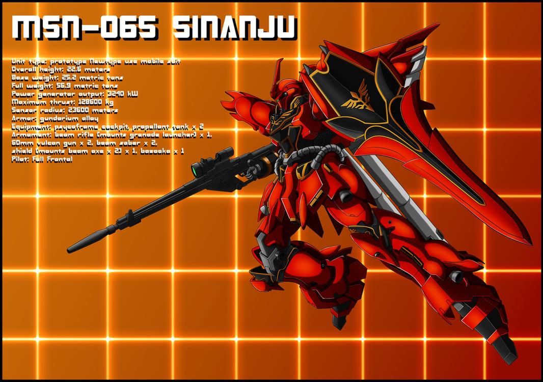 MSN-06S Sinanju Profile by zeiram0034