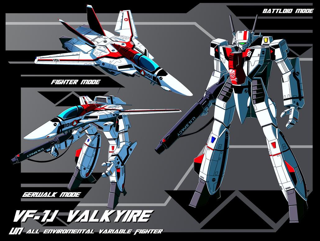 VF-1J Valkyrie (Hikaru Ichijou custom) profile by zeiram0034