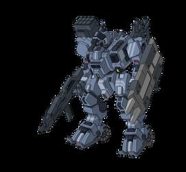 G.U.N Paladin mecha (armed version)