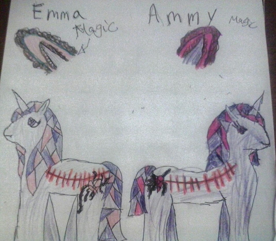 crytal pony Oc: Emma and Ammy by Beckyboo94s