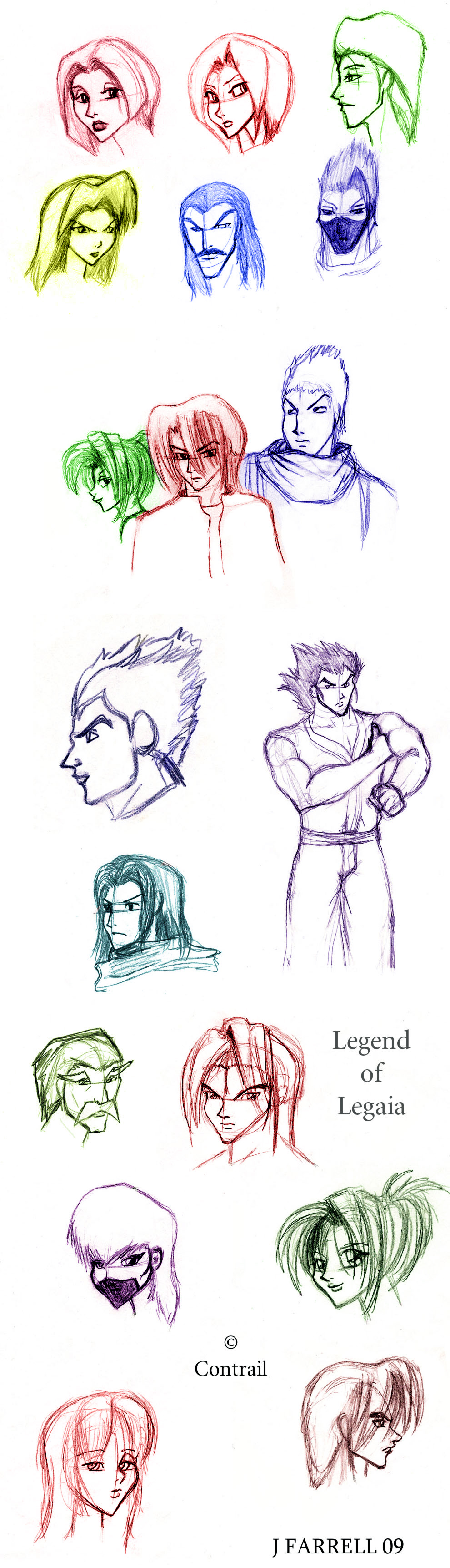Legend of Legaia Sketches by darkmane