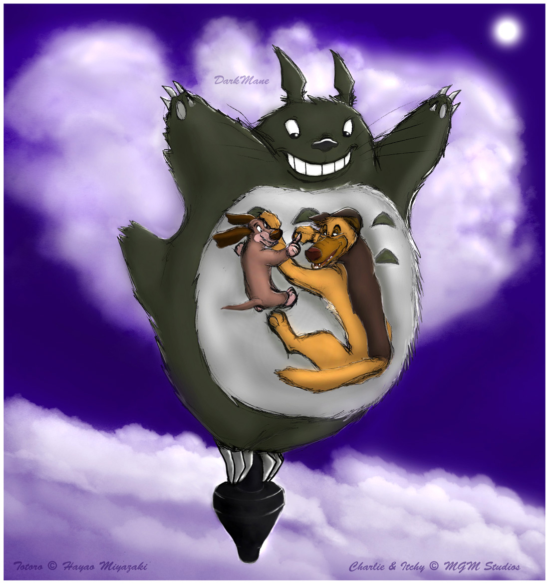All Dogs Go To Totoro--Color by darkmane