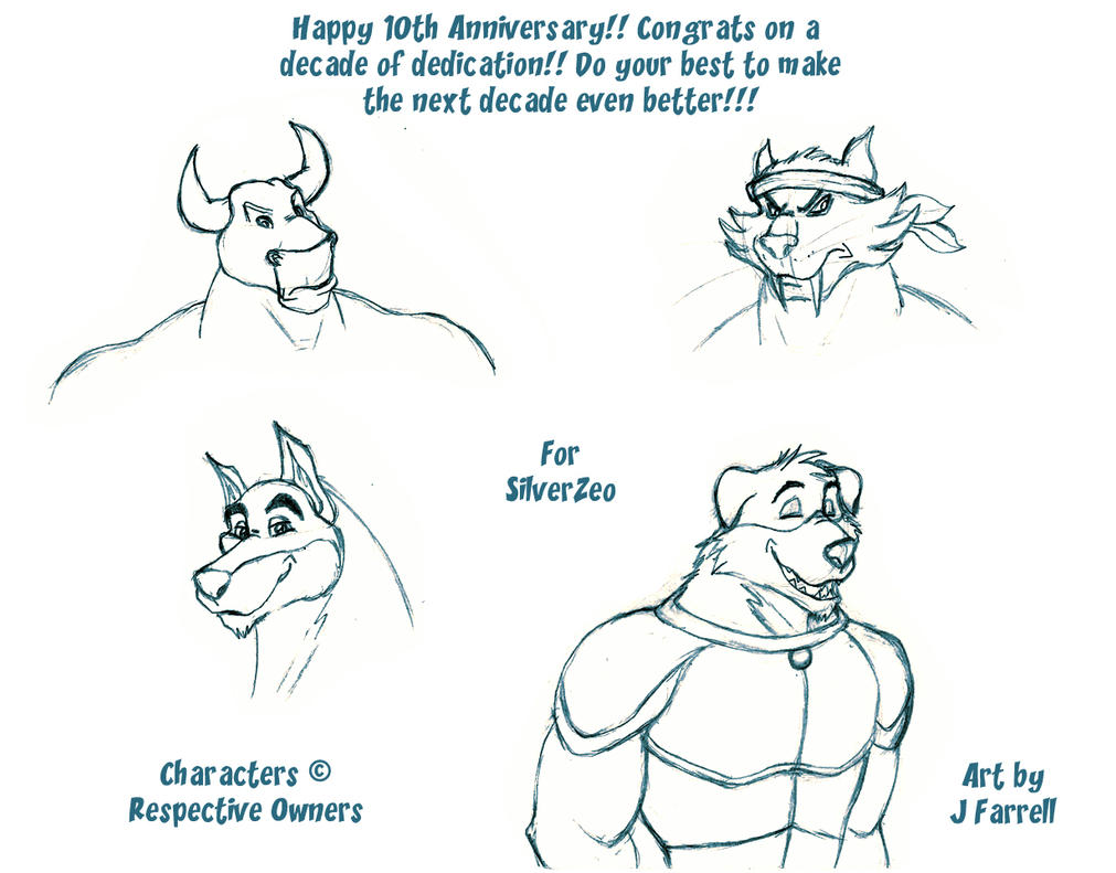 Happy 10th Anniversary for SilverZeo by darkmane