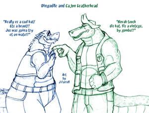 Dingodile and Cajun Leatherhead