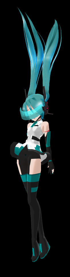 Cyber Miku Append Pose by Xenosnake