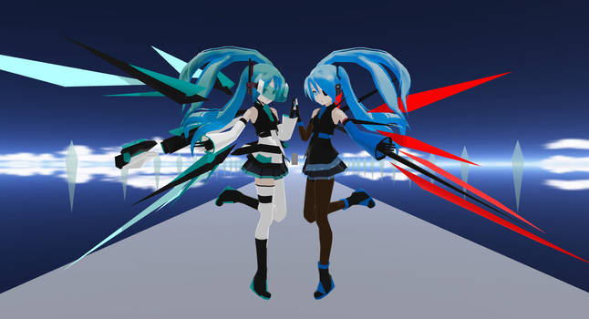MMD LAT Cyber Angels by Xenosnake