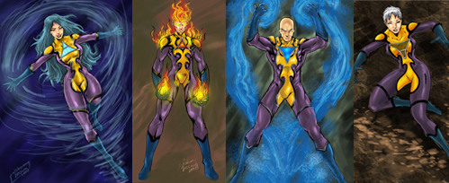 Elemental Fources Concept art by johnbecaro