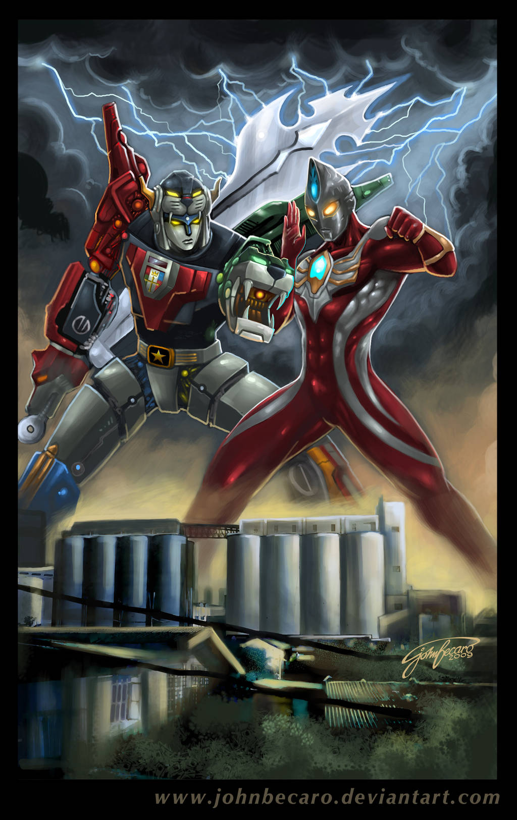Voltron Vs Ultraman Max by johnbecaro