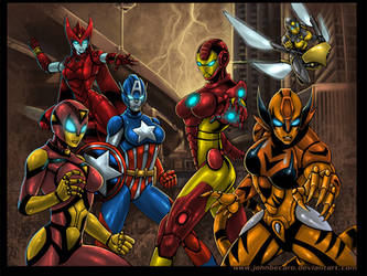 AVENGERS_Iron Ladies Ultimacy by johnbecaro