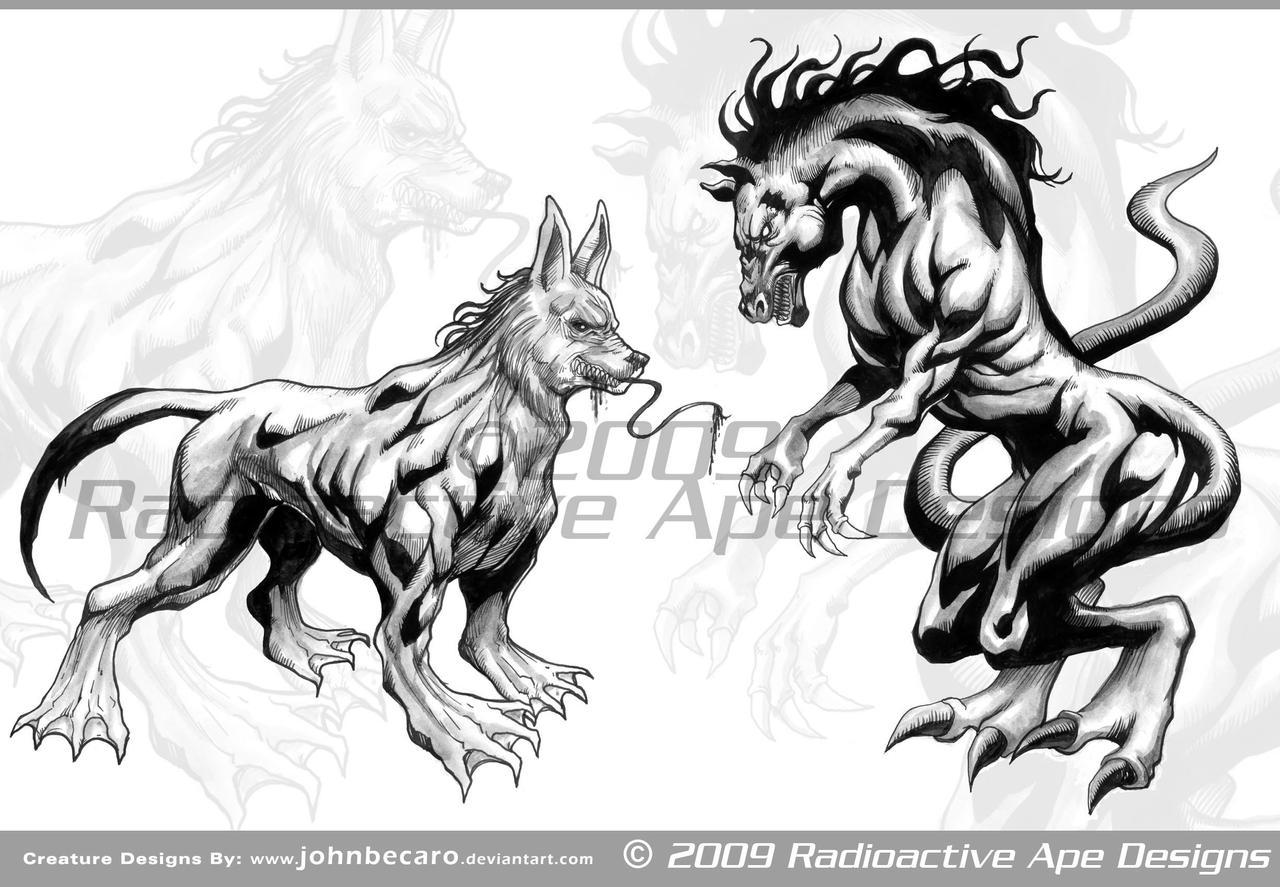 RAD: Some Creature Designs 01 by johnbecaro
