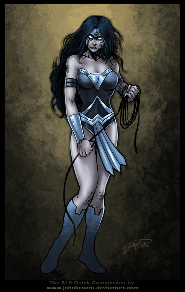 Black Lantern WonderWoman by johnbecaro