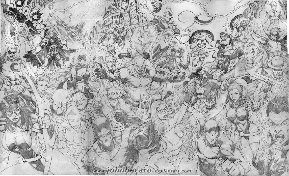 Pencils: PEACEKEEPERS UNITED by johnbecaro