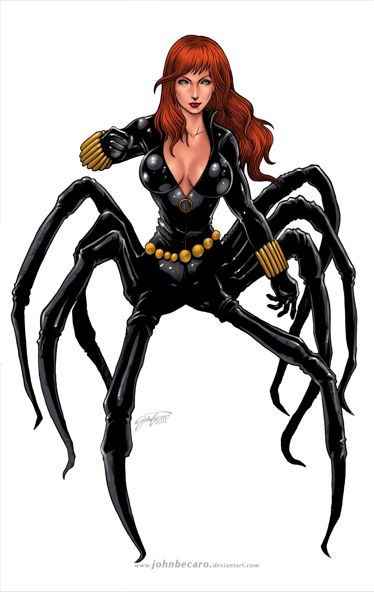 Commission: BLACK WIDOW by johnbecaro