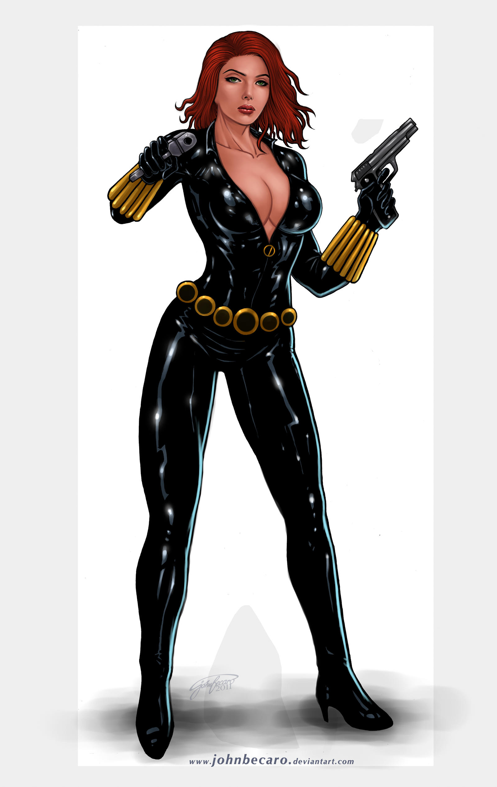 Commission: BLACK WIDOW 2 by johnbecaro