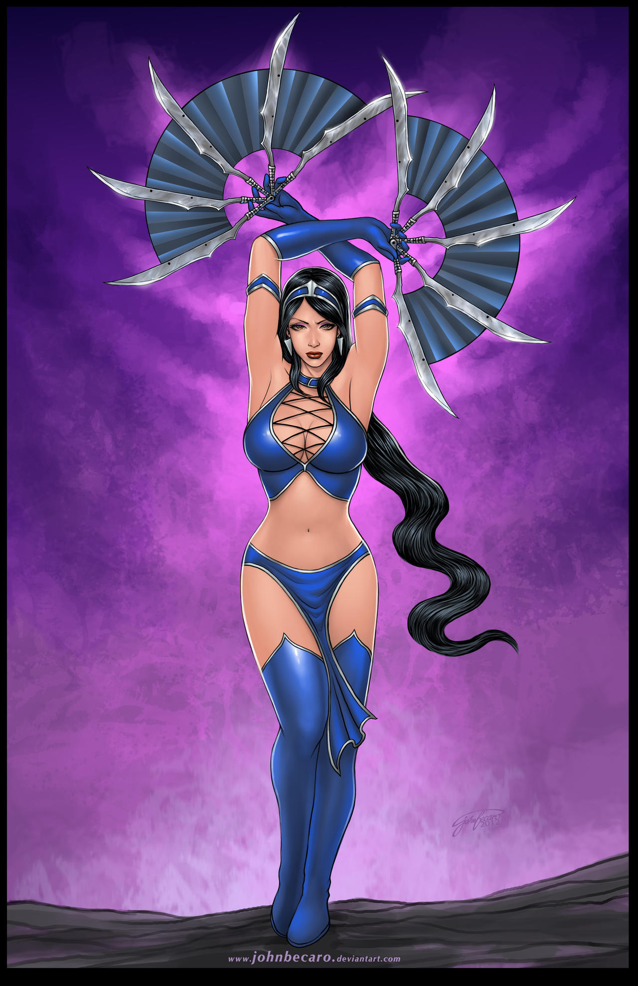 Commission: KITANA of Mortal Kombat by johnbecaro