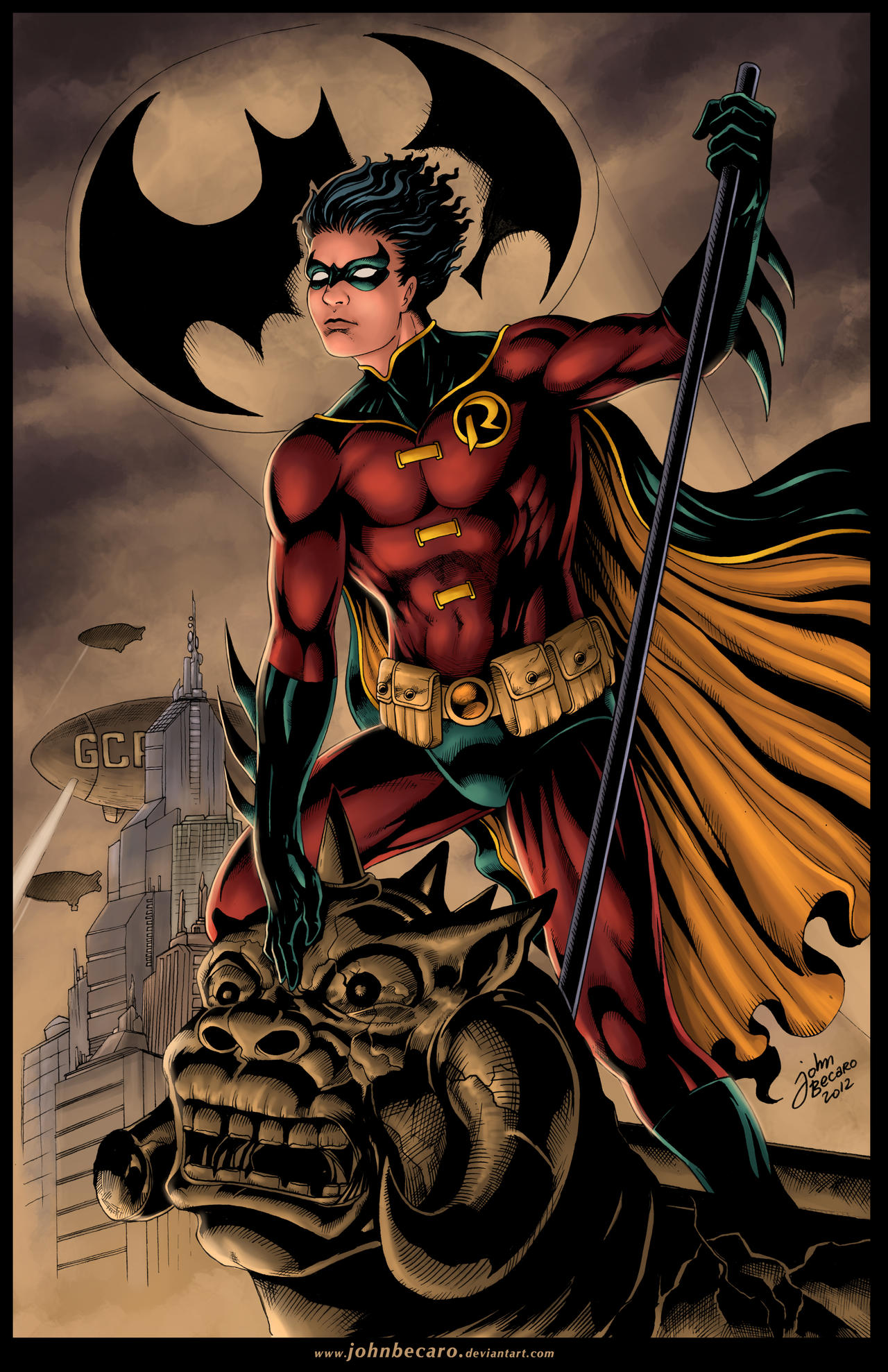 Commission: ROBIN _Tim Drake by johnbecaro on DeviantArt