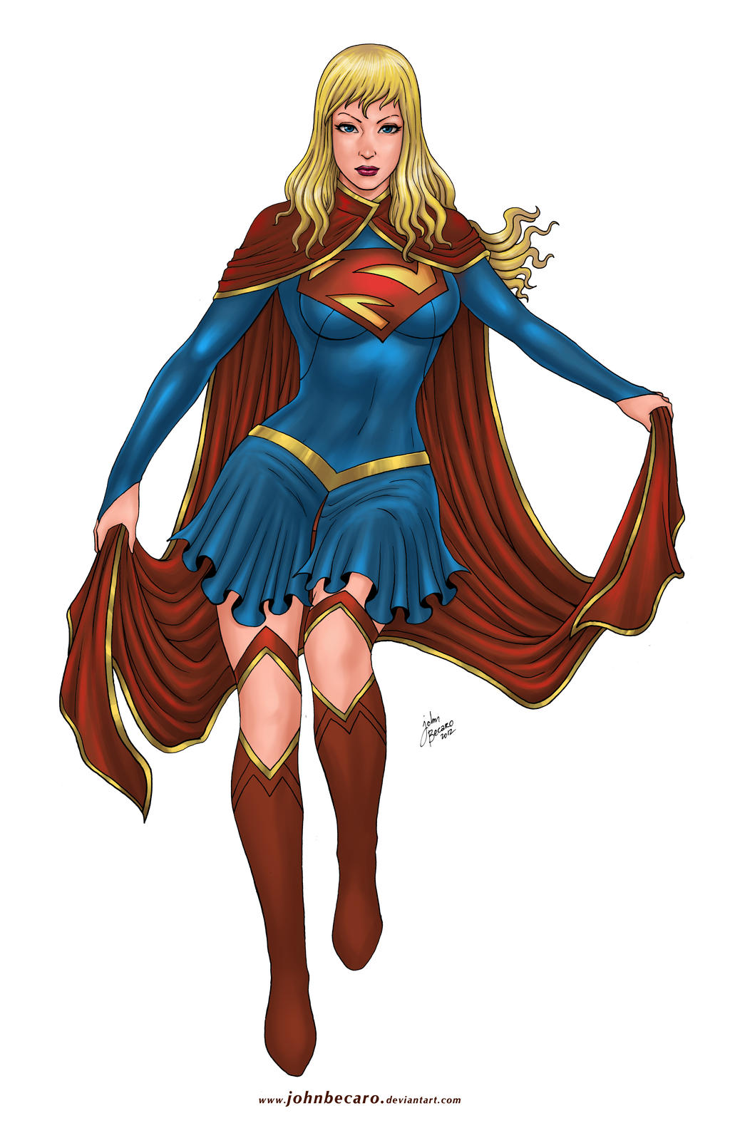 Commission: Super Girl in New costume by johnbecaro on ... Supergirl Comic Costume