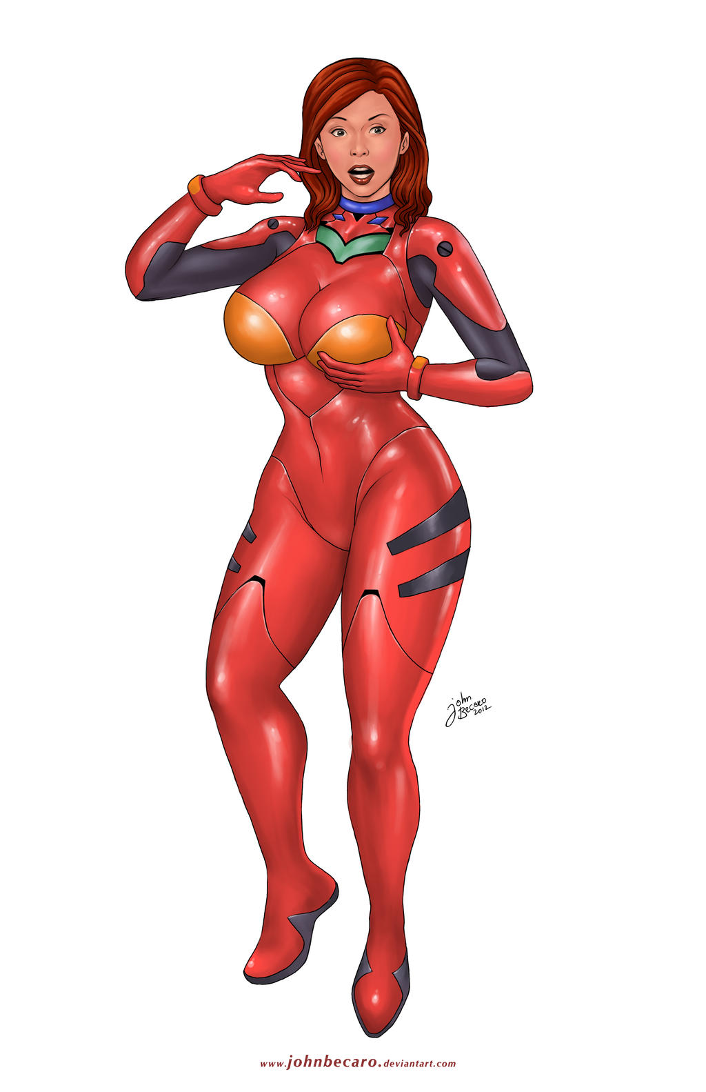 Commission: Asuka's Plugsuit by johnbecaro