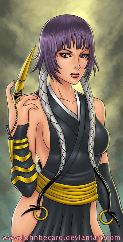 $20 Bust Commission: Soi Fon from Bleach by johnbecaro