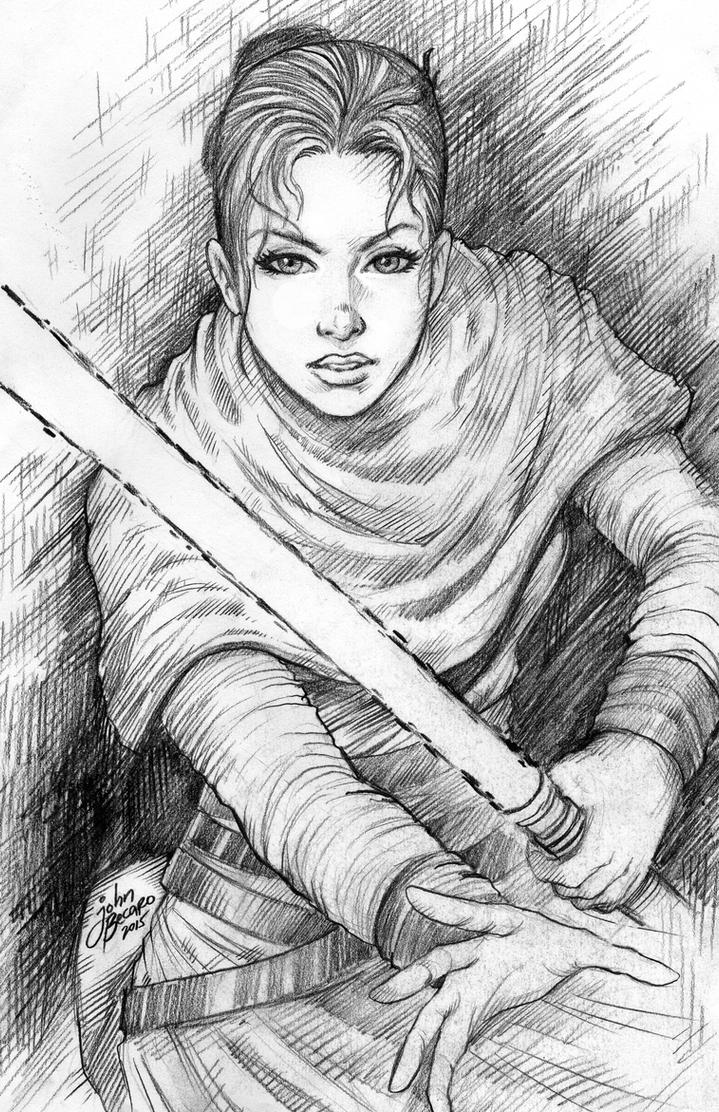Star Wars: The Force Awakens: REY by johnbecaro