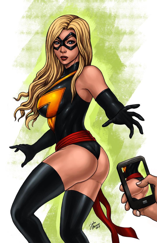 Ms Marvel paparazzi by johnbecaro