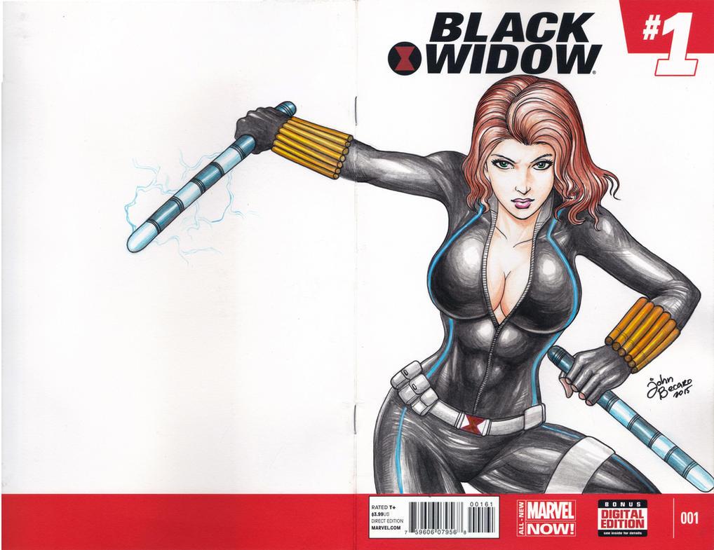 BLANK COVER : Black Widow by johnbecaro