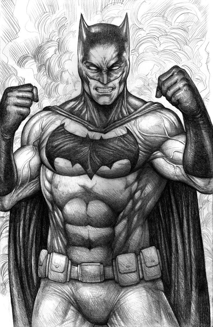 Batman pencils by johnbecaro