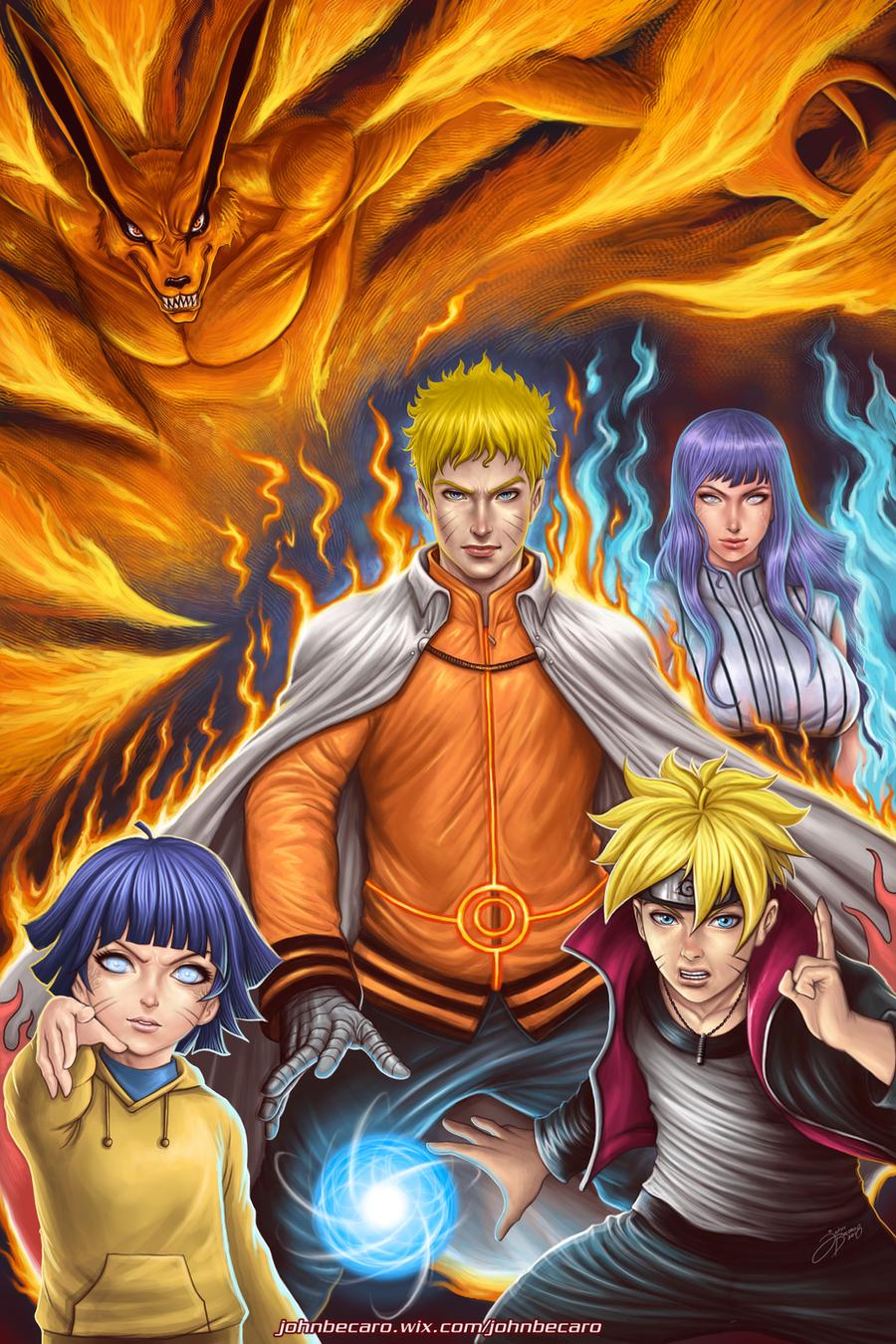 The Uzumaki Family by johnbecaro