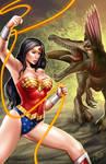 Wonder Woman versus Spinosaur