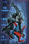 Venom versus Spider-Man