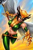 Hawkgirl by johnbecaro
