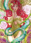 Poison Ivy acrylic