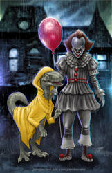 Pennywise x Raptor by johnbecaro