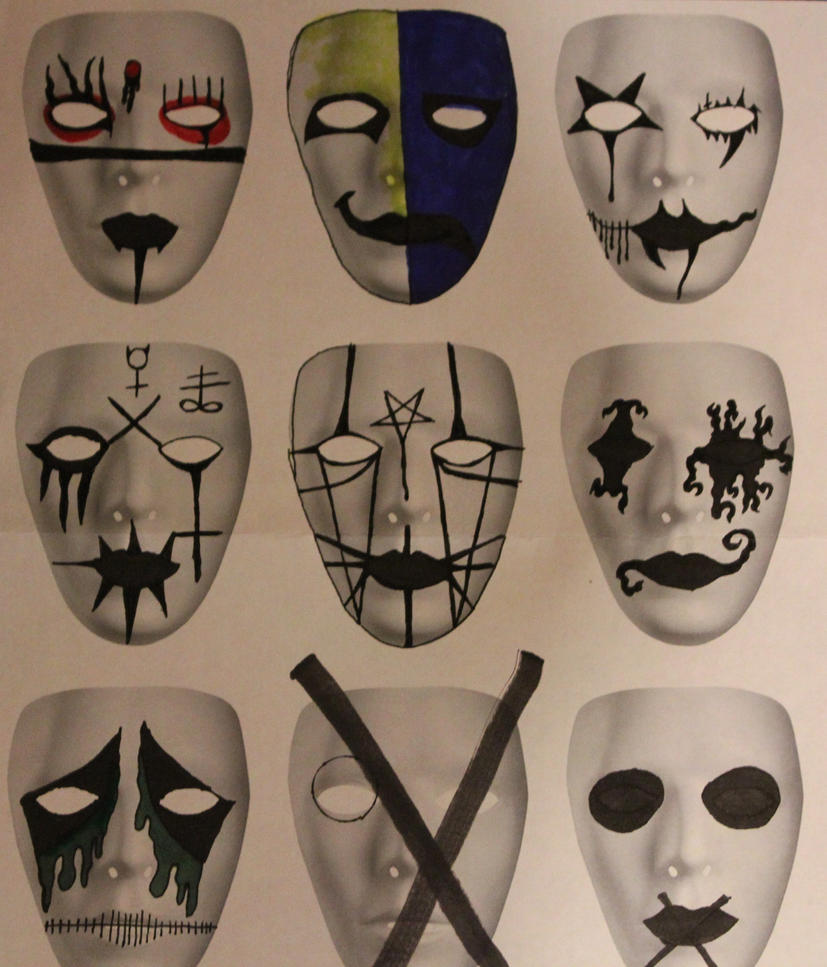 mask designs nine by zombis-cannibal on DeviantArt