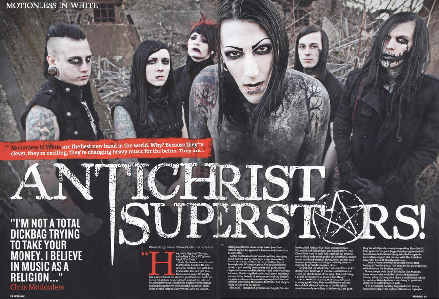 Motionless In White Kerrang Spread By Zombis Cannibal On