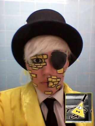 Gravity Falls - Human!Bill Cipher Makeup Test by Shadow-Industries