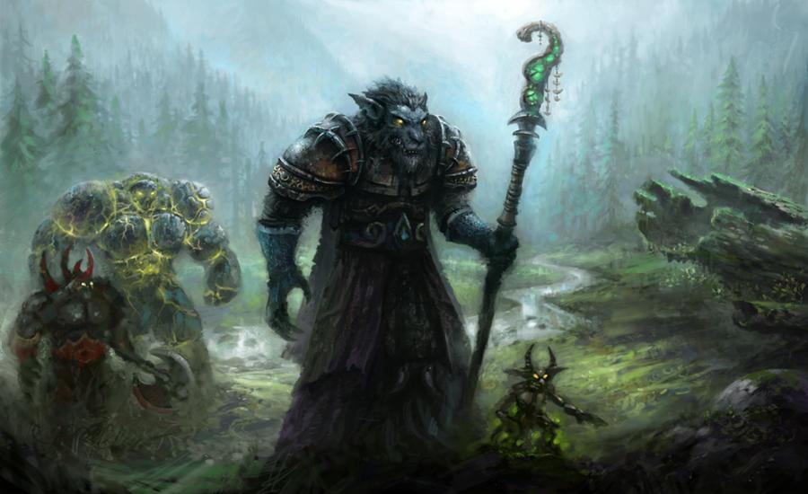 Worgen Warlock by yonaz