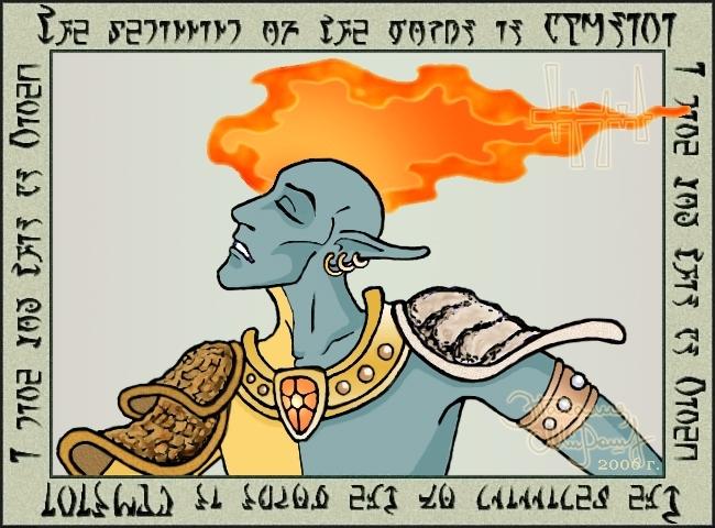 Warrior - poet of Vvardenfell by Nata-eslava