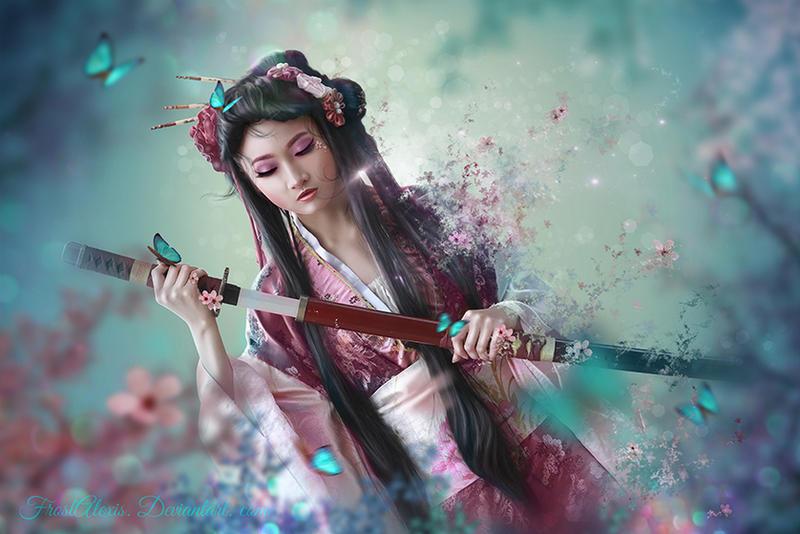 Sakura Whispers  by FrostAlexis