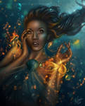 Blue Fire Embrace by FrostAlexis