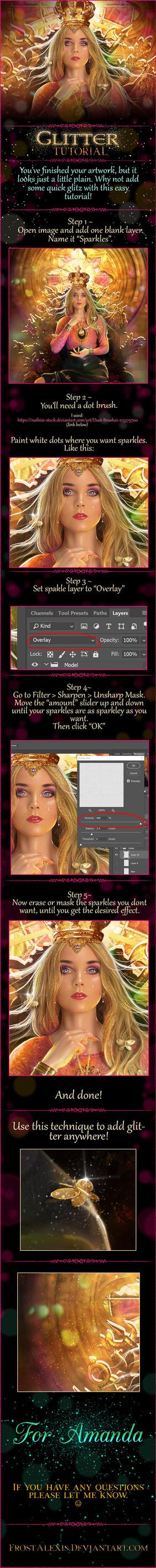 Easy Glitter Tutorial by FrostAlexis