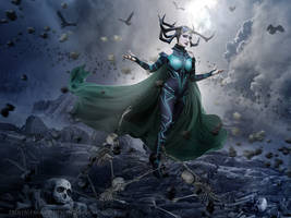 Hela's Wrath by FrostAlexis