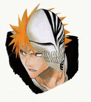 Bleach - Ichigo Hollow Mask by lilxpwincessxkairi
